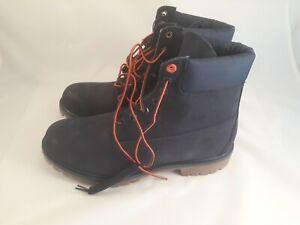 Timberland 6 Inch Classic Premium Men's Navy Blue Waterproof Boots UK Size 11W