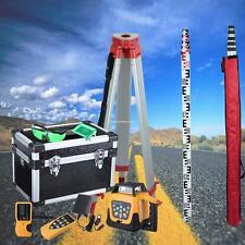 1.65M trépied en aluminium + 5M Staff + Rotary Laser Level niveau laser rotatif