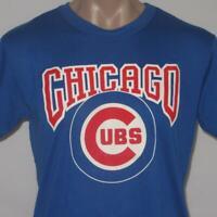 Chicago Cubs XL Garan 50/50 Paper Thin Puffy Ink Vintage 80s T-Shirt Jersey