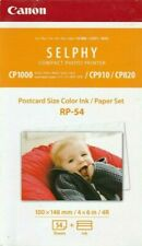 Canon RP-54 Postcard Size Color Ink/ Paper Set 4 X 6 in 54 Sheets - 2 Pack