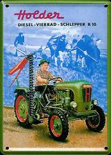 Holder Tractor metal postcard / mini-sign  110mm x 80mm  (hi)