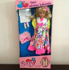 Susy The Pregnant Doll With Twins MISB Vintage Neon Dress Fits Barbie