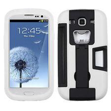 For Samsung Galaxy S III S3 KICKSTAND Case Bottle Opener Card Holder Black White