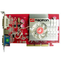 New ATI Radeon 9550 256 MB DDR2 Memory AGP 3D Dvi S-video VGA Video Graphic Card