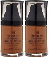 (2) Revlon Photoready Airbrush Effect Makeup New & Unused 011 - Cappuccino