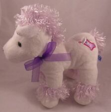 "Kids of America Corp Pony/Horse 8"" Plush White & Lavender w/ Christmas Stocking"