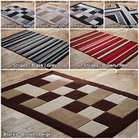 Geometric Blocks Box Stripes Modern Low Cost Rugs Soft Quality New Sale Area Rug