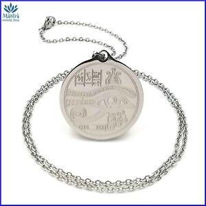 Amuleto talismano occhio di Horus portafortuna collana uomo donna in acciaio da