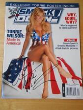 WWE SmackDown female wrestling AUTOGRAPHED magazine/Diva TORRIE WILSON 7-05