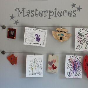Masterpieces Wall Sticker Decal  Show Off Kids Artwork Quote DIY Vinyl   WQB10