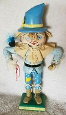 BRN Carved Wizard of OZ Scarecrow Nutcracker