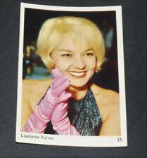 CARTE PHOTO 1963 LISELOTTE PULVER CINEMA ACTRICE MOVIE SUISSE ACTRESS