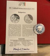 Bulgarien 25 Leva 1989 Silber PP - Fußball WM 1990