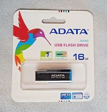 ADATA UV140 16GB USB 3.0 Bookmarked, Capless Flash Drive, Blue (AUV140-16G-RBE)