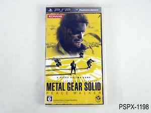 Metal Gear Solid Peace Walker PSP Japanese Import Japan JP Text US Seller