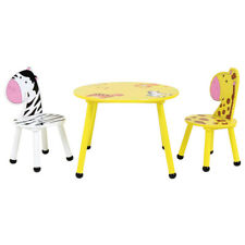 Bentley Kids Jungle Wooden Table and 2 Chairs Set - Childrens Animal Themed Set