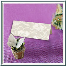 20 IVORY BRODERIE WEDDING NAME PLACE CARDS MATCHES OUR POCKETFOLDS