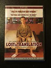 Lost in Translation (Dvd, 2004,Full Screen) Bill Murray, Dvd