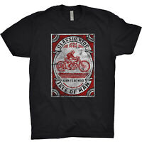 Isle Of Man T Shirt Motorbike Motorcycle Classic Ride Moto Garage Indian
