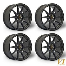 "4 x ViP BDR CONCAVE F Black 17"" x 8.25"" 4x100 et30 alloys Mini VW 4 stud"