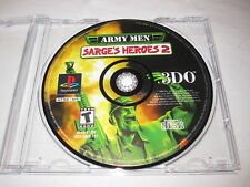Army Men Sarge's Heroes 2 (PlayStation PS1) Game in Plain Case Vr Nice~