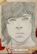 Walking Dead Hunters & Hunted Sketch Card By Frank Kadar