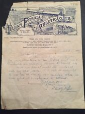 Official Fulham Letter Singed By Philip Kelso Manager Of Fulham & Arsenal
