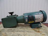 Baldor VUHM3546 Electric Motor 1HP 1750RPM 3PH 56CFR w/Unbranded Reducer
