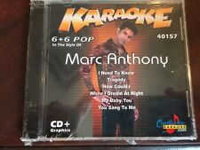 CHARTBUSTER 6+6 KARAOKE DISC 40157 MARC ANTHONY CD+G POP MULTIPLEX SEALED
