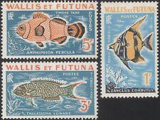 Wallis and Futuna 1963 Pesce/NATURA/Marino/le spese di spedizione/a causa di pagare Set 3 V (n33158)