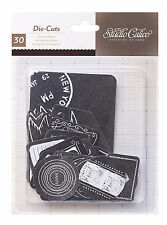 Studio Calico (30) CHALKBOARD LABELS & BANNERS DieCut Shapes scrapbooking