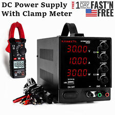30v Adjustable Dc Power Supply Variable Digital Test Machine With Clamp Meter