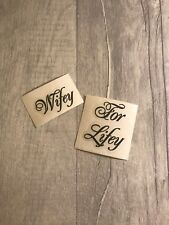 DIY Personalised Wedding Shoe Stickers Decal Name Mrs Sticker Wifey For Lifey