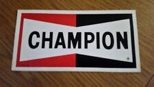 Original UNUSED CHAMPION Sticker Race Rally Motorsport