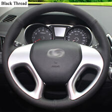 New DIY Sewing-on PU Leather Steering Wheel Cover Exact Fit For Hyundai IX35