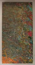 24 x 48 Original Modern Abstract Expressionism Drip Painting - by Carmen Rowe