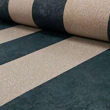 CARATI Glitter Stripe Carta da Parati Nero / Oro-P+S 13346-90 metallica