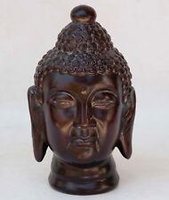 Benzara Ceramic Buddha Head With Ushnisha - BROWN