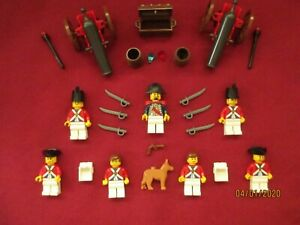 LEGO Imperial  Soldiers Minifigures Lot.7 Figures Guns ,Cannons, Swords Weapons