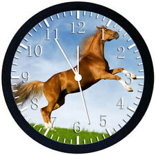 Beautiful Horse Black Frame Wall Clock Nice For Decor or Gifts Y93