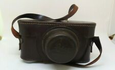 vintage Leica  camera case in brown leather with strap