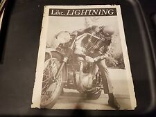 "BSA Lightning Specs Foldout Reprint from ""Cycle Guide"""