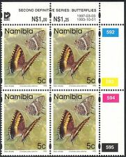 Namibia 1993 (1997 reprint) 5c BUTTERFLIES/Insects/Nature control c/b (n16693)