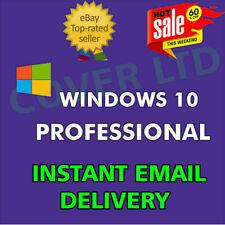 Windows 10 PRO Professional 32/64 BIT ✔ Genuine Activation ✔ LICENSE INSTANT