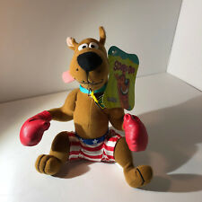 "Warner Bros plush Scooby Doo Boxer Boxing gloves 10"" seated American Flag shorts"