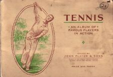 1936 Player & Sons 50 card tennis set in album Don Budge Helen Jacobs Fred Perry