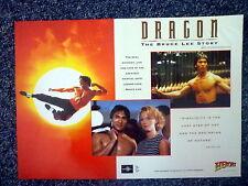 DRAGON The Bruce Lee Story Rare Original 1990s Window Sheet Movie Poster