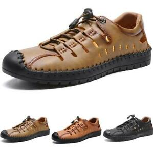 Men's Beach Walking Sandals Shoes Hollow out Breathable Flats Slip on Outdoor D
