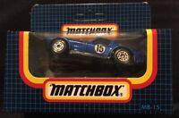 Vintage Matchbox Toys MB-15 Corvette Grand Sport Blue #15 1/64 Scale in Box RARE