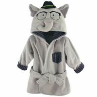 Hudson Baby Animal Face Hooded Bath Robe, Smart Elephant